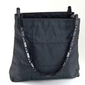 Prada Black Tessuto Quilted Shoulder Bag
